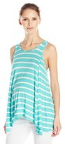 Three Seasons Maternity Women's Maternity Sl Stripe Sharkbite Top