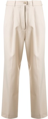 Agnona high-waisted cropped trousers