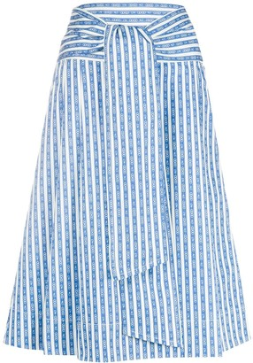Tory Burch Tie-Front Skirt