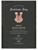 Minted Corset Bachelorette Party Invitations