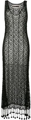 Jil Sander Pompom-Hem Crochet Dress