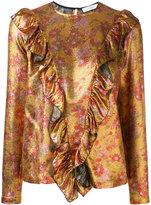 Roseanna metallic floral print blouse