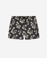 The Kooples Black swim shorts with pineapple print