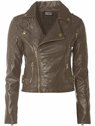 SS7 New Women's Faux Leather Biker Jacket