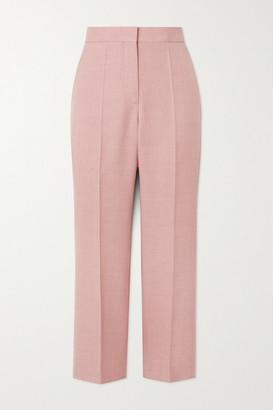 Stella McCartney - Carlie Cropped Woven Straight-leg Pants - Blush