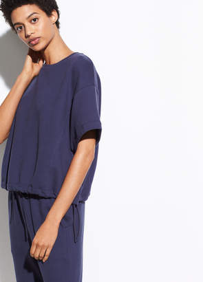 Wide Sleeve Drawstring Pullover