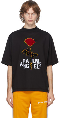Palm Angels Black Rose Boxy T-Shirt