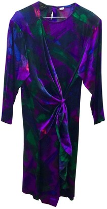 Pierre Cardin Multicolour Silk Dress for Women Vintage