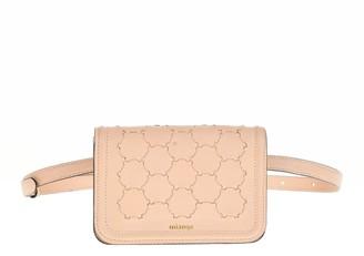 Mianqa Semiha Woven Belt Bag In Dust Pink