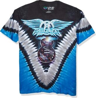 Liquid Blue Men's Aerosmith Guitar Short Sleeve Tee