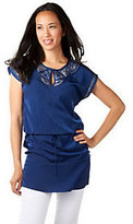 Cynthia Vincent CV by Embellished Drawstring Tunic