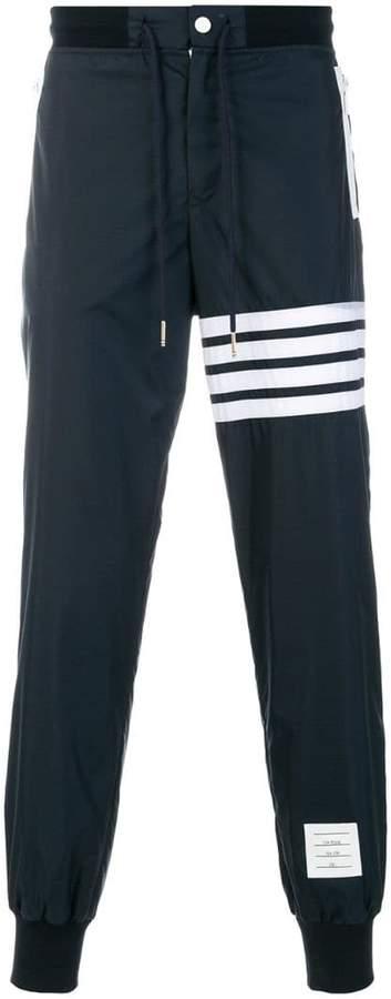 Thom Browne 4-Bar Stripe Lightweight Ripstop Sweatpants