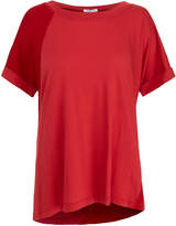 Splendid Red Ribbed Scoop Neck T-Shirt