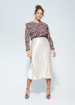 MANGO Violeta BY Ruffles floral blouse wine - 10 - Plus sizes