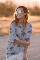 Forever 21 FOREVER 21+ Contemporary Palm Tree Tee