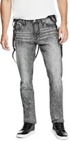 GUESS Slim Tapered Suspender Jeans