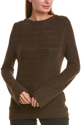 Piazza Sempione Metallic Stripe Wool & Silk-Blend Sweater