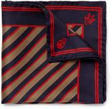 Alexander McQueen Silk-Jacquard Pocket Square