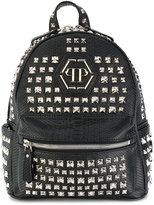 Philipp Plein Junior studded logo backpack