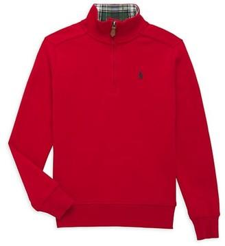 Ralph Lauren Little Boy's & Boy's Interlock Quarter-Zip Sweater