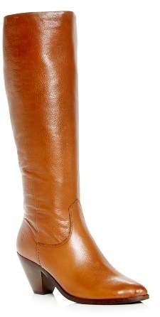 Frye Women's Lila Leather Slouch High-Heel Boots