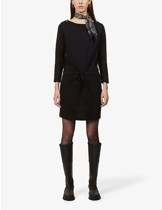 Sessun Jessie drawstring-belt cotton-blend mini dress