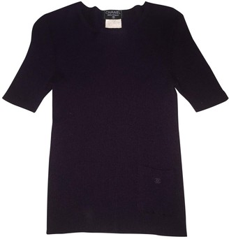 Chanel Purple Cashmere Tops