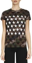 Valentino T-shirt T-shirt With Star Pattern On A Camouflage Background