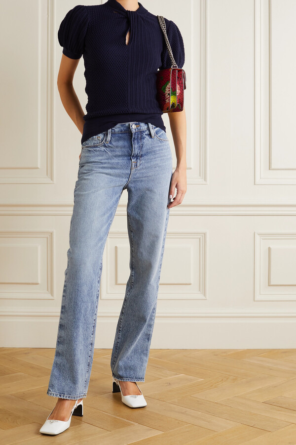Thumbnail for your product : Erdem Alban Wool, Silk And Cashmere-blend Sweater - Blue