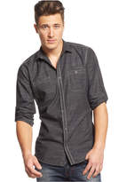 INC International Concepts Men's Work Striped Shirt, Only at Macy's