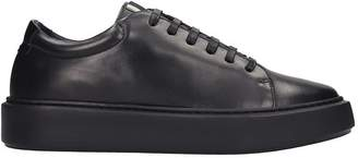 Low Brand Lb 01 Sneakers In Black Leather