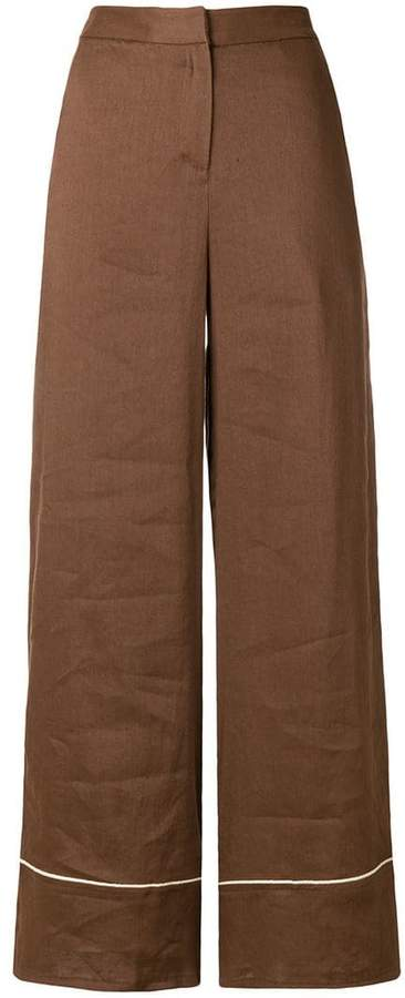Altea contrast piping trousers