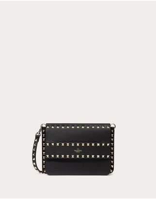 Valentino Garavani Small Rockstud Grainy Leather Crossbody Bag