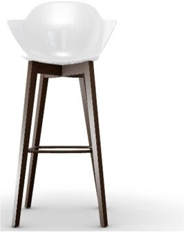 Calligaris Saint Tropez 31.5'' Bar Stool Seat Color: Transparent