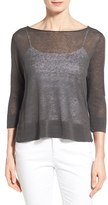 Eileen Fisher Women's Organic Linen & Nylon Sheer Boxy Sweater