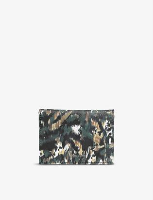 Ted Baker Susa Urban-print leather card holder