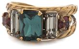 Sorrelli Blue Crystal & Goldtone Geo Ring