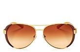 Tory Burch Aviator Sunglasses, 61mm