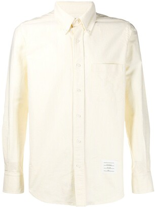 Thom Browne University stripe button down shirt