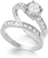 B. Brilliant Sterling Silver Ring Set, Cubic Zirconia Engagement Ring and Wedding Band Set (2-3/4 ct. t.w.)