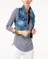 MICHAEL Michael Kors Frayed Denim Vest