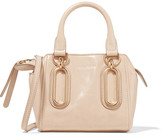 See by Chloe Paige Mini Glossed-leather Shoulder Bag - Beige