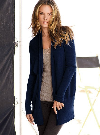 Victoria's Secret Cotton & Cashmere Cozy Open Cardigan Sweater