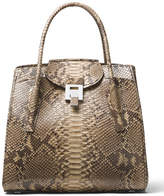 Michael Kors Bancroft Large Python Satchel Bag