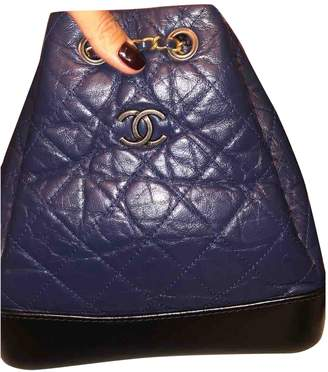 Chanel Gabrielle Blue Leather Backpacks