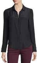 Frame Silk Victorian Blouse, Noir