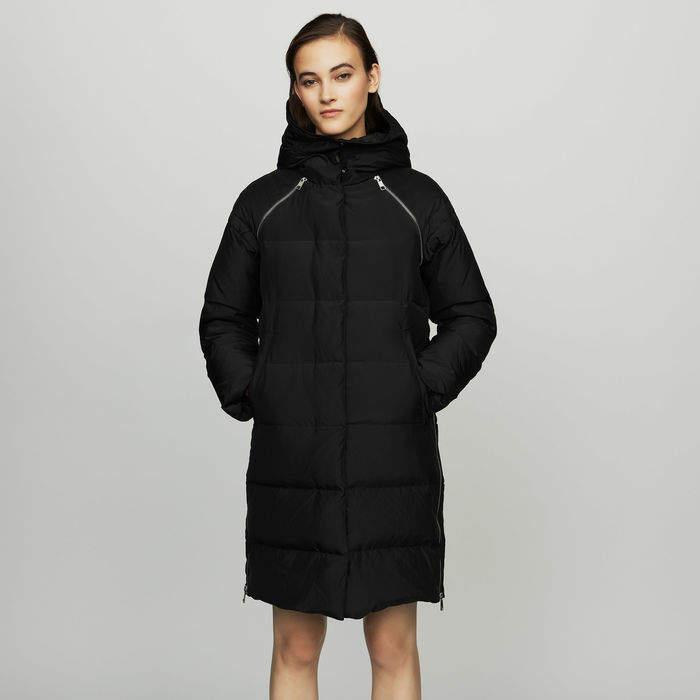 Maje Long down jacket with hood