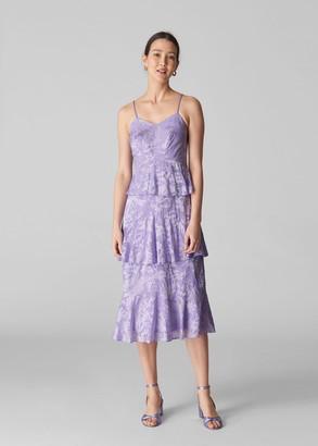 Luisa Satin Devore Dress