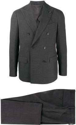 Lardini Double-Breasted Two Piece Suit