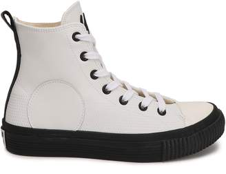McQ Plimsoll Leather High-top Sneakers